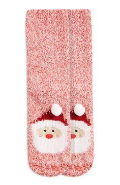 Primark - Novelty Santa Boucle Sock