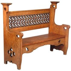 Arts and Crafts Oak Settle by Liberty and Co 1