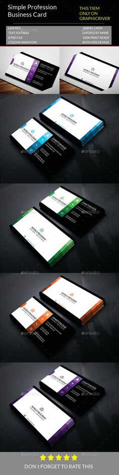 Simple Profession Business Card Template PSD #visitcard #design Download: http://graphicriver.net/item/simple-profession-business-card-template140/13344296?ref=ksioks