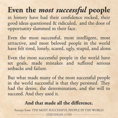 Excerpt from: The most successful people in the world