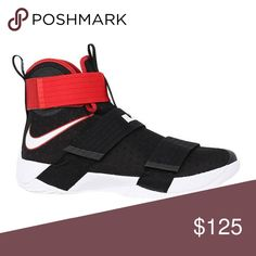 huge selection of e0124 55704 Nike LeBron Soldier 10 Bred Size Nike LeBron Soldier 10 X Black University  Red White Bred Size New without box Nike Shoes Sneakers