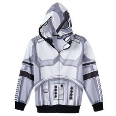 Boys 8-20 Star Wars Stormtrooper Costume Full-Zip Hoodie