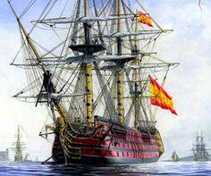 Las historias de Doncel: El navío Santísima Trinidad. El rearme naval español del siglo XVIII.