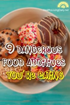 The 9 Most Dangerous Food Additives You're Eating 😮😱🤢  Read this article to find out more about the 9 most dangerous food additives that you should avoid consuming.   #foodadditives #foodcolorings #msg #bha #bht #propilgallate #potassiumbromate #healthylivingdaily #followme #follow