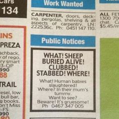 The Massacared Sheep. | 21 Things That Make Absolutely No Sense