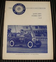 JANUARY - FEBRUARY 1950 SPORTS CAR Magazine SCCA HARD to FIND Early RARE Issue