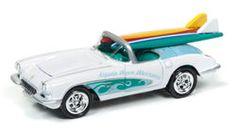 Johnny Lightning Street Freaks Diecast Car - 1958 Chevrolet Corvette (Surf Rods) Gloss White
