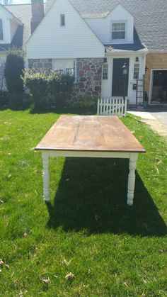 "Custom built farm house table 9""x 4"""