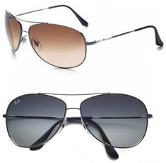 Ray Ban Wrap Aviators.makes the outfit so cool