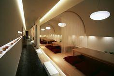 Интерьер ресторана Kappo Hisago от дизайнерского бюро Ichiro Nishiwaki в Ниигата, Япония