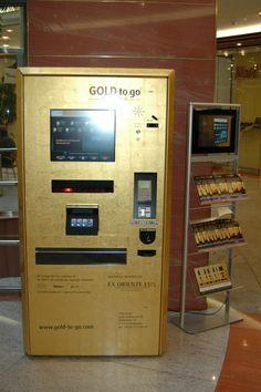 Gold Vending Machine Delivers Gold Bullion And Bricks On Demand -  #gold #luxury #money