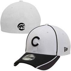 ac419707b33a2 New Era Chicago Cubs Pipe Slide 39THIRTY Flex Hat - White