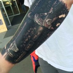 One of the most iconic dunks of all time lives on in this tattoo by Steve…