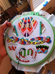 tribal needlepoint, #DIY project, embroidery aztec design