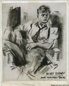 """Mickey Rooney"" - James Montgomery Flagg"