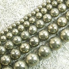 "Natural Pyrite iron Gemstone  Round  Loose Beads 6mm 8mm 10mm 15"" | Crafts, Beads & Jewelry Making, Beads | eBay!"