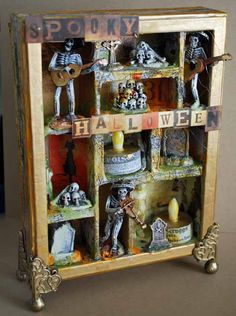 AMAZING shadowbox by May Flaum. I REALLY want to make a Christmas version. I just love this.
