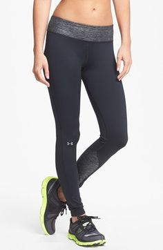 Under Armour ColdGear® 'Cozy' Tights available at #Nordstrom. (Small in black gold metallic) (not shown in picture)