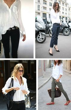style: the white shirt