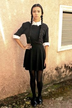 einfaches Halloween Kostüm selber machen - Wednesday Addams