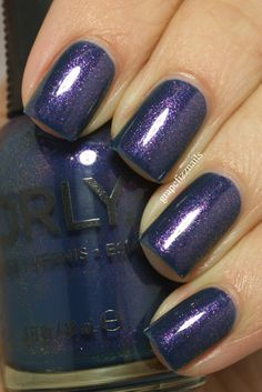 """Orly High On Hope (Grape Fizz Nails) (High on Hope by Orly from the Spring 2013 Collection) (""""High On Hope is a chameleon, it looks different in almost every light.  Sometimes it looks like a dusty denim blue, sometimes it looks like a royal blue and then sometimes that flash of shimmer just blows you away!"""")"""