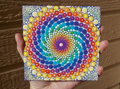 Sacred Geometry Dot Mandala Art by Kaila Lance 5x5 inch