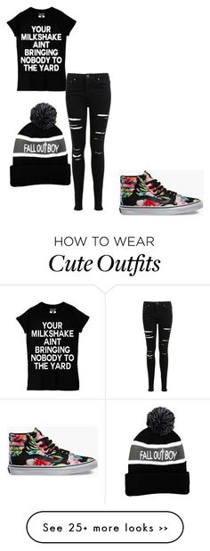 """cute black band outfit"" by baileadadino on Polyvore"