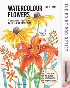 Use the pre-printed outlines on the watercolour paper provided to create six beautiful flower paintings including popular favourites clematis, white rose and sweet pea and learn all the skills you need to become an accomplished artist. Your Paintings, Beautiful Paintings, Flower Paintings, Watercolour Flowers, Watercolor Paper, Julie King, Oil Paint Set, Beautiful Flowers, Beautiful Pictures