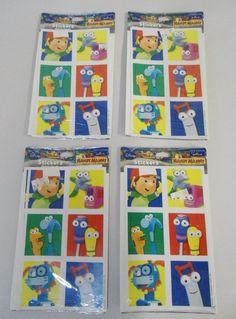 4 Packs of Hallmark Disney HANDY MANNY Stickers, 16 Sheets, 96 Stickers Total #Hallmark