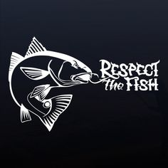"""""""Hooked Redfish"""" red drum window sticker for fishermen. Professional grade outdoor vinyl decal. Over 40 fish designs available at respectthefish.com."""