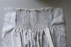 Altering dress patterns to add smocking