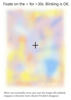 stare and it disappears