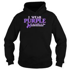 I Wear Purple For My Brother-In-Law Pancreatic Cancer Awareness T-Shirt