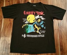 Country Music and Country Nights Tennessee Style T-Shirt Men Large vintage 1992 #TShirtsPlus #GraphicTee