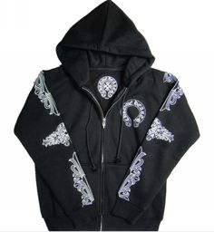 f096d658e1d Cross Chrome Hearts Hoodie with Signature Horseshoes Logo Coats Shop Online