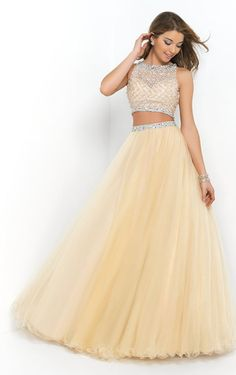 Glorious Jewel Sleeveless Floor-length Beading Dress