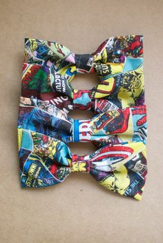 Marvel vintage comic book design hairbows/bowties! on Etsy, $7.00