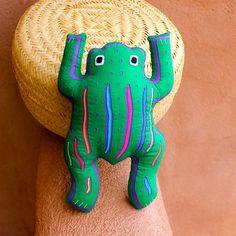 Fabulous Stuffed Mola Fat Frog  Symbol of Large Luck! By molamama