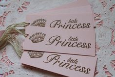 10 Little Princess Baby Shower Tags Birthday by MyHollyBlossom, $4.25
