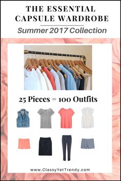 "Click Here To Return To The Blog   Go To The E-Book Store     IS YOUR CLOSET FULL OF CLOTHES, BUT YOU ""HAVE NOTHING TO WEAR""? YOU NEED…   The Essential Capsule Wardrobe e-Book: Summer 2017 Collection!   A complete capsule wardrobe guide for the Summer season! With all clothes and shoes selected for you PLUS, 100 Complete Outfit Ideas!…"