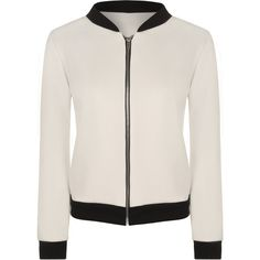Yuki Long Sleeve Bomber Jacket ($23) ❤ liked on Polyvore featuring outerwear, jackets, cream, zip bomber jacket, summer jacket, pink zip jacket, zipper jacket and wrap jacket