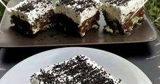 Πανεύκολο γλυκάκι με μπισκότα σοκολάτας !!!   Συνταγή:  Σπάμε στο τάπερ 2 πακέτα μπισκότα Παπαδόπουλου σοκολάτας.   Κάνουμε μια κρέμ... Desserts, Food, Tailgate Desserts, Dessert, Postres, Deserts, Meals