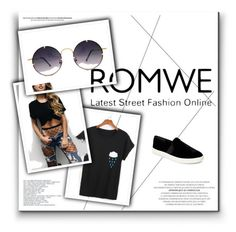 """""""ROMWE"""" by merymutapcic ❤ liked on Polyvore featuring Vince and Spitfire"""