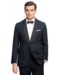 Brooks Brothers Tartan Tuxedo Jacket