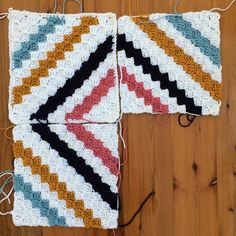 Inspired by traditional string quilts, this blanket makes a great base for playing with pattern and C2c Crochet Blanket, Crochet Squares Afghan, Crochet For Beginners Blanket, Crochet Quilt, Crochet Granny, Crochet Blanket Patterns, Crochet Stitches, Free Crochet, Corner To Corner Crochet Pattern