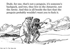 Comic by Married To The Sea: the penguin and the polar bear