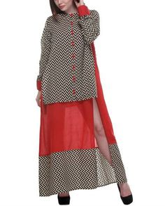 Double Layered Chevron Dress I Shop at: http://www.thesecretlabel.com/designer/print-mania