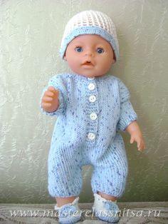 Летний костюмчик для куклы Беби Бон. МК