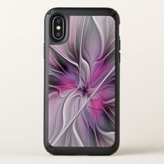 Pre- Order  Pre-order today! Your design will be made and shipped as soon as our manufacturers are ready to begin production.  Floral Fractal Modern Abstract Flower Pink Gray  $53.95  by GabiwArt  - cyo diy customize personalize unique