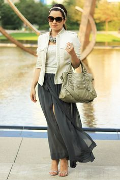 A Military Jacket, A Little Sparkle and A Maxi